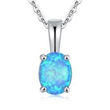 Blue White Red Orange Fire Opal Women Jewelry Gemstone Silver Pendant OD5184-87