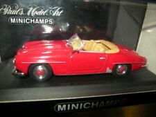 1:43 Minichamps Mercedes-Benz 190 SL Cabrio 1955-62 red/rot Nr. 430033132 OVP