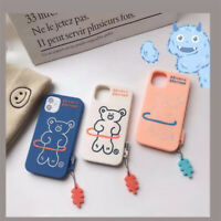 Cute Brunch Brother Bear Pendant Cartoon Phone Case For iPhone 11 Pro Max XR X