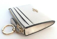 Coach Mini Skinny ID Case Card Coin Key Classic Wallet F88250 Chalk Leather Nwt