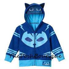 NWT LICENSED PJ Masks Catboy Boy Girl Costume Hoodie Jacket Mask 2T 3T 4T 5T