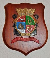 Hr Ms Hellevoetsluis plaque shield crest Dutch Navy Netherlands gedenkplaat