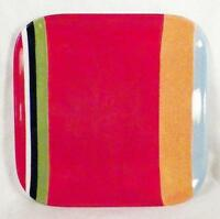 Sonoma Home Color Fest Red Salad Plate Square Pottery Dinnerware As Is