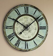 Wall Clock French Bistro Blue Green Gallery 29 Inch