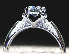 Cut Simulated Moissanite Ring_Size 7 Silver 1.67 Carat Gleaming Ideal