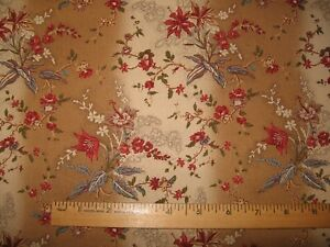 """1800's REPRODUCTION FABRIC """"LATELY ARRIVED LONDON"""" 1 YD   TAN OMBRE   BRACKMAN"""
