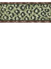 LEOPARD GREEN AND  BLACK ANIMAL FUR PRINT AFRICAN JUNGLE WALLPAPER BORDER