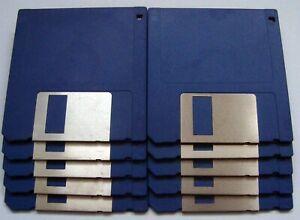 10 Stück blaue MF 2DD Disketten, 720 KB MS-DOS formatiert, fehlerfrei