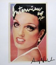 "ANDY WARHOL  ""Interview Magazine Cover - Liza"" 1982 Hand Signed Print"