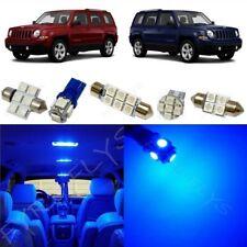 6x Blue LED lights interior package kit for 2007-2017 Jeep Patriot JP1B