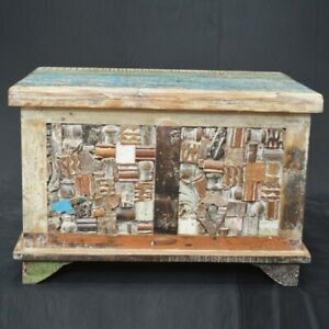 MADE TO ORDER INDIAN HANDMADE Liberty Reclaimed Timber Blanket Box Small Chest