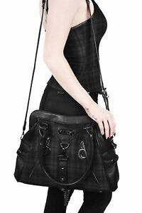 KILLSTAR Darklands Handbag Tartan Gray Bag Purse Crescent Occult Gothic RARE NWT