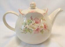 Sadler Windsor England Tea Pot with Lid Pink Green Floral Pink Trim