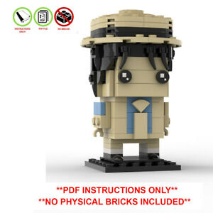 Lego Brickheadz Michael Jackson Smooth Criminal - Custom MOC - PDF INSTRUCTIONS!