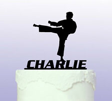 Personalised Karate - Martial Arts Cake Topper