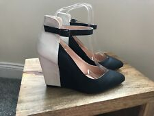 Dorothy Perkins Colour Block Wedge Shoes Size UK 4