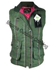 Ladies Éirinn Country Wear Teflon Derby Tweed Hunting Shooting Waistcoat Gilet