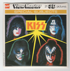 KISS Rock & Roll Band 1979 GAF View-Master Packet K-71 Exc. Condition