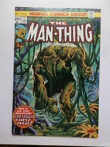 MARVEL: MAN-THING #1, 2ND HOWARD THE DUCK APP., BRUNNER'S COVER, 1974, FN/VF!!!