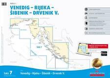Delius Klasing Seekarten Satz 7 (2017/2018) Adria 1 Kroatien Slowenien
