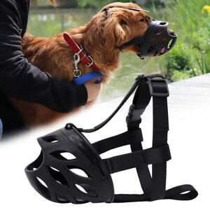 Dog Muzzle Silicone Basket Breathable Mouth Cover Anti-Biting Barking Chewing