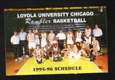 Loyola Ramblers--1995-96 Basketball Pocket Schedule--Giordano's