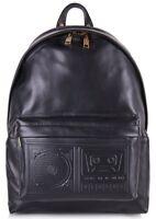 VERSUS VERSACE Men's Boombox Backpack, Black, 100% Leather, RRP £535