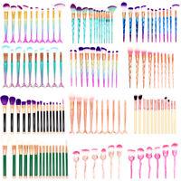 3D Mermaid Makeup Brushes Set Powder Foundation Eye shadow Blush Cosmetic Brush