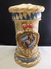 Old Vintage German Wax Wachskunst Sculpted Candle Lion Crest ! Bayern