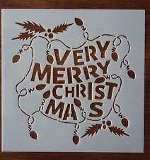 VERY MERRY CHRISTMAS STENCIL 130mm x 130mm