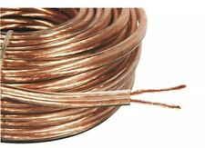 50m THICK SPEAKER WIRE OXYGEN FREE COPPER CABLE HIGH QUALITY 2 X 35 STRANDS UK
