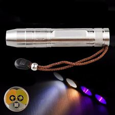 Taschenlampen Tri-color LED 18650 chargeable Flashlight For Jade Amber  UV Cree