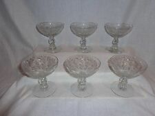 Vintage Glass Etched Duncan & Miller First Love Ice Cream Glasses (6)