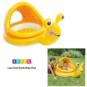 Intex Lazy Snail Sun Shade Canopy Baby Toddler Garden Inflatable Paddling Pool