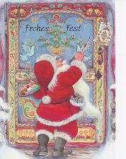 Postkarte Lisi Martin Santa wünscht allen ein Frohes Weihnachtsfest Schweden