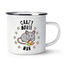 Crazy Mouse Man Stars Retro Enamel Mug Cup - Funny Joke