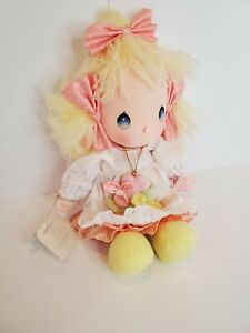 Applause Collectible Precious Moments Cloth Doll Heather With Locket with tags