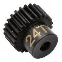 Hot Racing CSG1824 24T 48P Hardened Steel Pinion Gear 1/8 Bore
