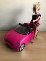 Barbie Convertible Sports Car And Blonde Doll Toy Bundle