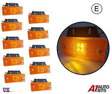10X 24V LED Side Marker Orange Amber Lights Truck Man Daf Scania Volvo e-marked