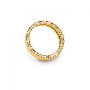 Damenring Mehrsteiner 925 gelb Zirk. verg PR6676