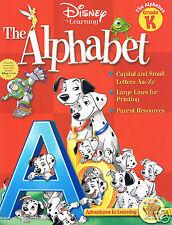 32pg Disney & Friends Series THE ALPHABET Homeschool Workbook Grade K