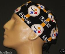 PITTSBURGH STEELERS BROADCLOTH SCRUB HAT RARE! FREE CUSTOM SIZING IF REQUESTED!