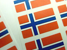 Mini Sticker Pack, Self-Adhesive Norway Flag Labels, FR17