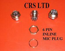 CB 6 PIN MALE MIC CHASSIS PLUG SELF CONNECT FOR CB RADIO MICS HGV LORRY 27 MHZ