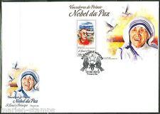 SAO TOME 2013  NOBEL PEACE PRIZE WINNERS MOTHER TERESA DALAI LAMA  S/S  FDC