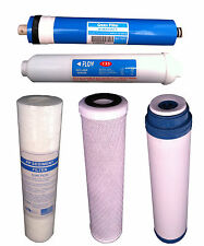 5 Stage Reverse Osmosis Water Filter Set Universal fits all standard RO Systems
