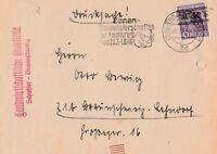 Brief gelaufen in Braunschweig Alliierte Besetzung 1948 interessanter Inhalt