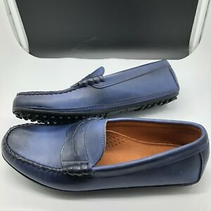 Allen Edmonds SIESTA KEY Blue Penny Loafers Size 10 D Mens Shoes Never Worn!