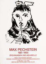 MAX PECHSTEIN - Ausstellungsplakat - Heiligenkreuzerhof, Wien - 1988